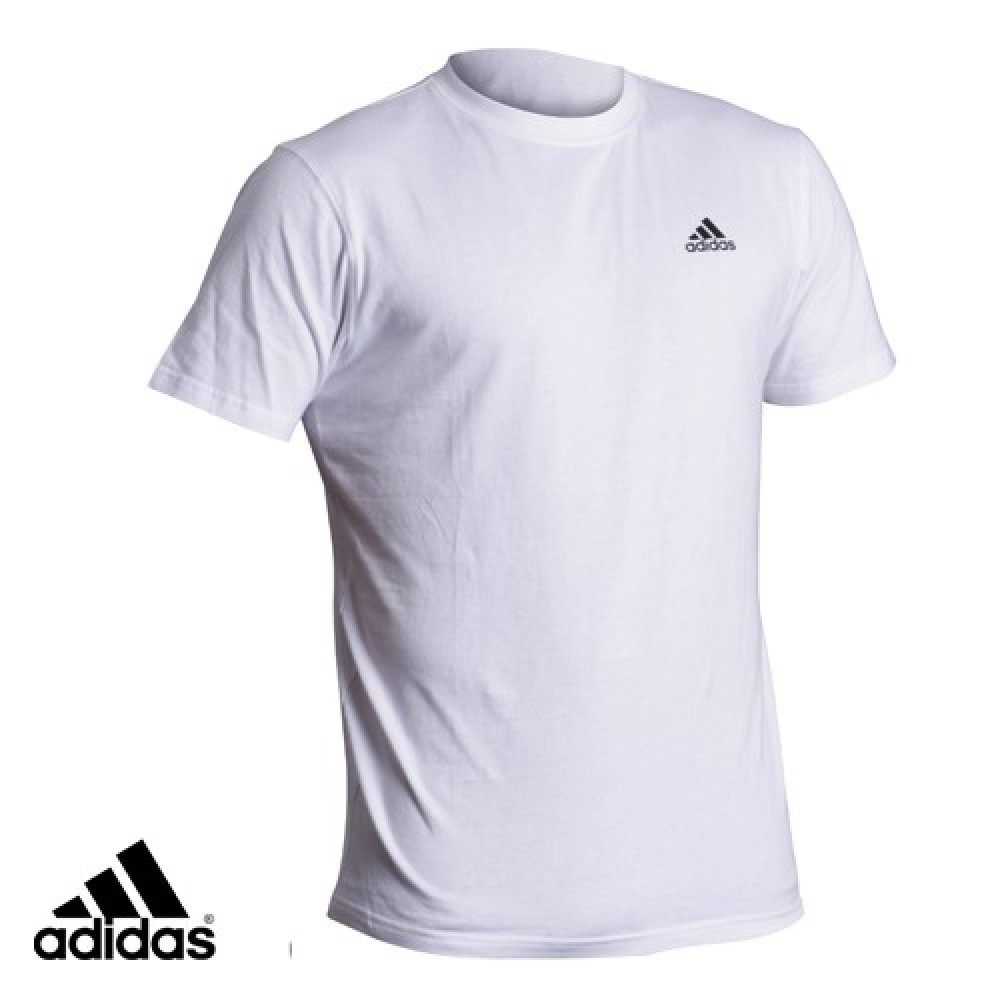 martial arts combat sports distributor adidas karate white t shirt. Black Bedroom Furniture Sets. Home Design Ideas