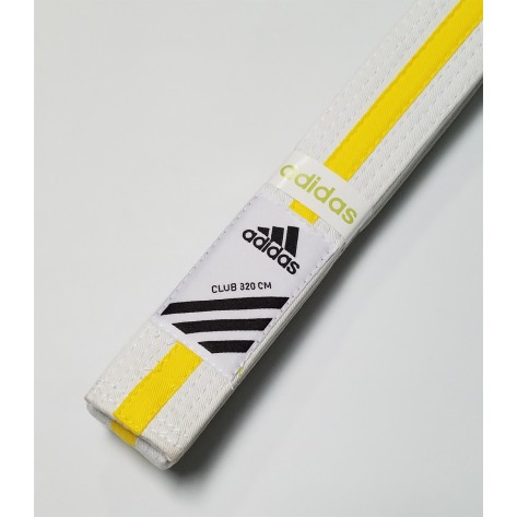 adidas Martial Arts White/Yellow Belt