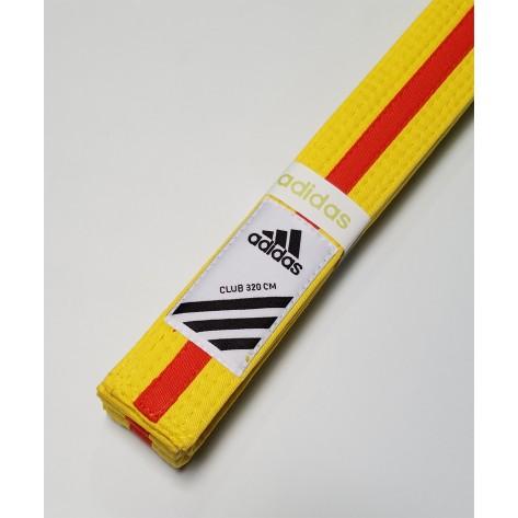 adidas Martial Arts Yellow/Orange Belt
