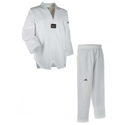 adidas Taekwondo ADICHAMP 2 White V-Neck Uniform