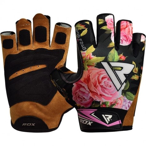 RDX F24 Floral Gym Workout Gloves for Women