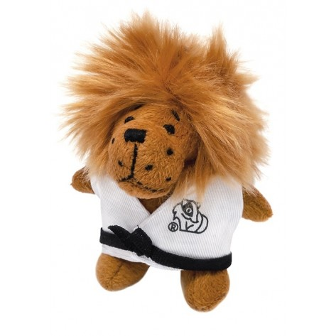 Plush Martial Arts Lion Keychain