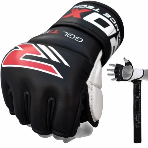 RDX T1 Leather MMA Training Gloves