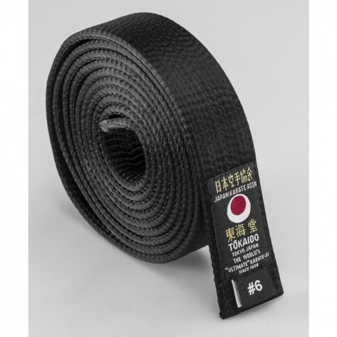 Tokaido Black JKA Satin Belt