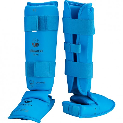 Tokaido WKF Approved Shin and Foot Protector - Blue