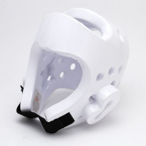 White Dipped Foam Martial Arts Head Gear