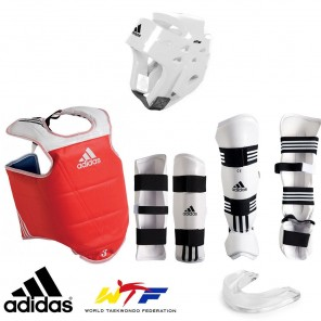 adidas WTF Approved Taekwondo Sparring Gear Set