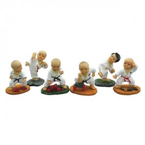 Martial Arts Students Figurine Set