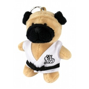 Plush Martial Arts Bulldog Keychain
