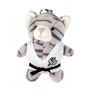 Plush Martial Arts Cat Keychain