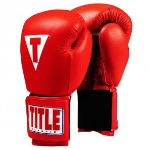 TITLE Classic Leather Elastic Training Gloves 2.0