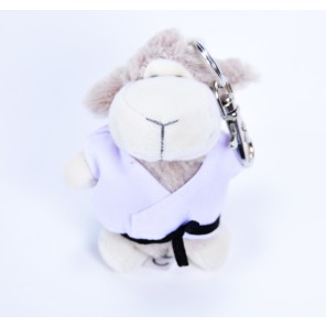 Martial Arts Plush Lamb Keychain