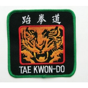 Taekwondo Tiger Martial Arts Patch