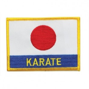 Karate Japan Flag Martial Arts Patch