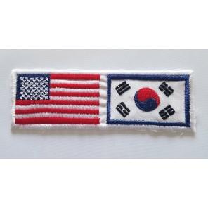 USA / Korea Flag Martial Arts Patch