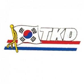 TKD Korea Flag Martial Arts Patch