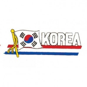 Korea Flag Martial Arts Patch