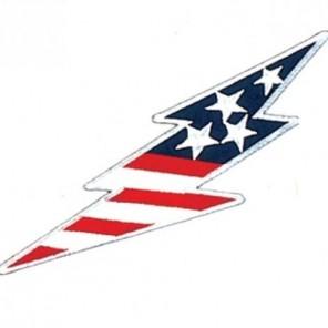 USA Flag Lightning Martial Arts Patch