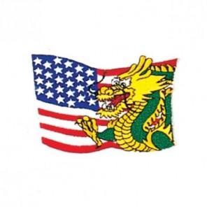 Dragon USA Flag Martial Arts Patch