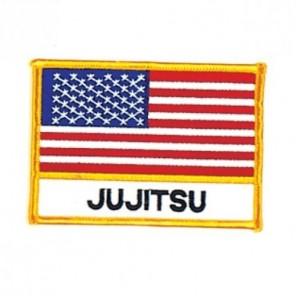 JuJitsu USA Flag Karate Martial Arts Patch