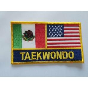 USA / Mexico Taekwondo Flag Martial Arts Patch