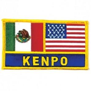Mexico and USA Flag Kenpo Martial Arts Patch