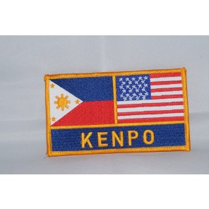 Kenpo Philippines / USA Flag Martial Arts Patch