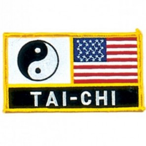 Tai Chi US Flag Martial Arts Patch