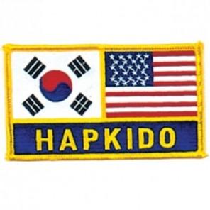 Hapkido Korea US Flag Martial Arts Patch