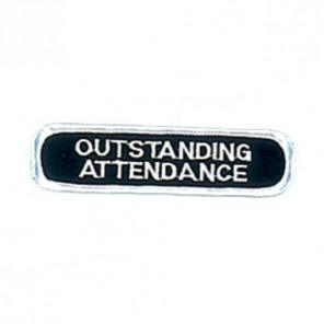 Outstanding Attendance Martial Arts Patch