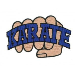 Karate Fist Martial Arts Patch