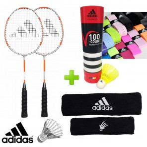 adidas Badminton P30 Kid's Training Set w/ Shuttles, Grips and Headband