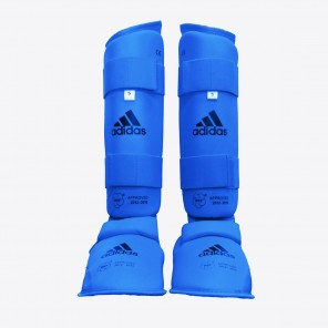 adidas WKF Approved Shin and Foot Protector - Blue