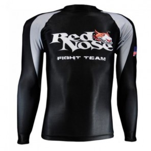 Red Nose Pitbull Long Sleeve Rashguard