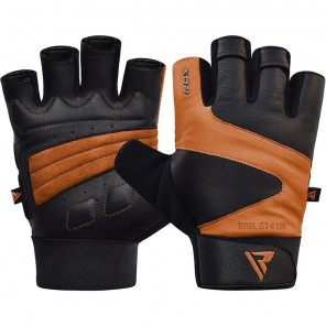 RDX S14 Leather Gym Gloves