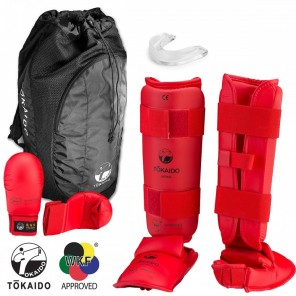 Tokaido Red WKF Sparring Gear Set