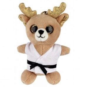 Plush Martial Arts Reindeer Keychain