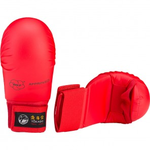 Tokaido WKF Approved Karate Gloves, Red