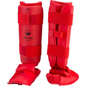 Tokaido WKF Approved Shin and Foot Protector - Red