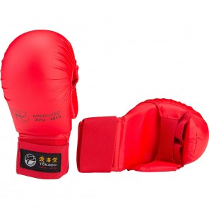 Tokaido WKF Approved Karate Gloves with thumb - Red