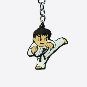 adidas Karate Kicking Figurine Keychain