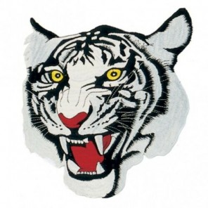 White Tiger Martial Arts Patch 10""