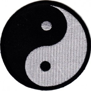Ying Yang Martial Arts Patch 10""