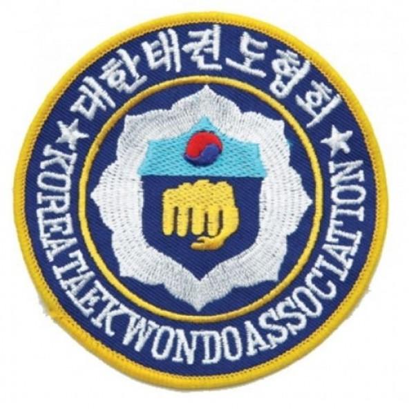 "WTF World Taekwondo Federation Small Martial Arts Patch 2/"" P1238"